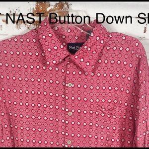 NAT NAST Red & Cream Boho Geometric Bottom Shirt-L